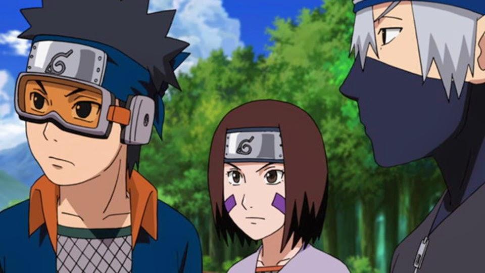 Obito, Rin y Kakashi