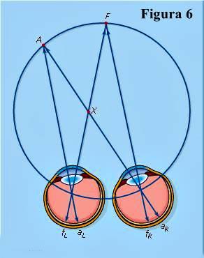 Vieth-Müller círculo horóptero: plano de fijación