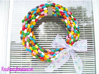 Jelly Bean Easter Wreath by Kandy Kreations