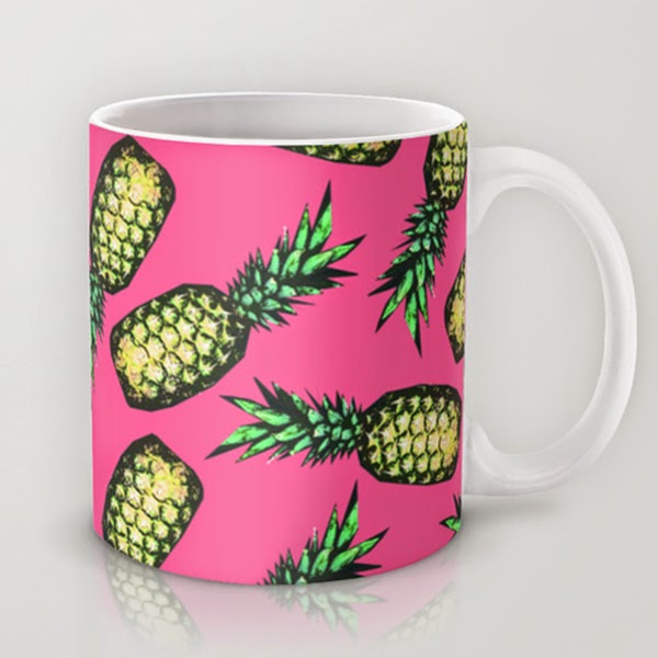 White Background of Pineapple Mug