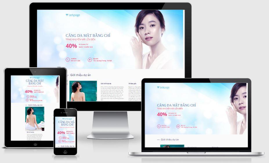 Template Blogspot Landing Page - Sức khoẻ làm đẹp