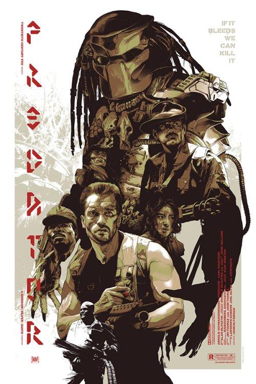Grzegorz Domaradzki ilustrações cartazes pôsteres filmes arte cinema Predator (O Predador)