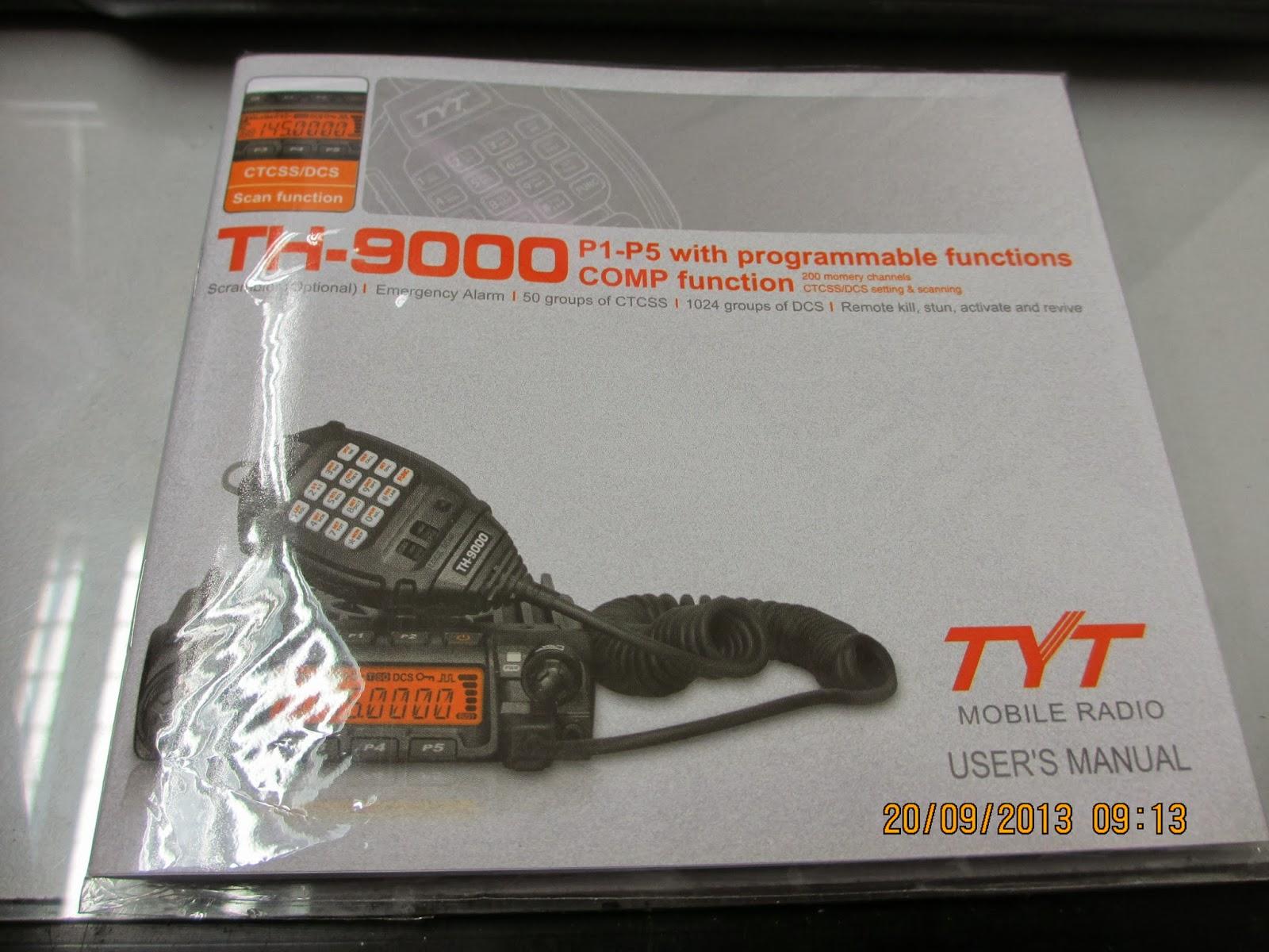 manual programming tyt th-9000 software