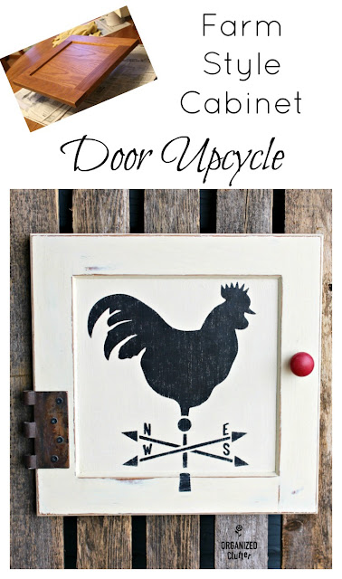 Cabinet Door Repurposed As Rooster Farmhouse Decor #stencil #repurposed #farmhousestyle