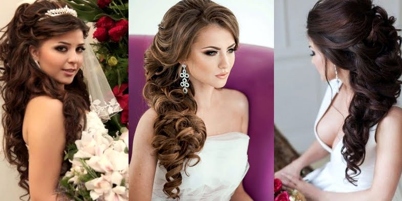 Stunning Long And Curly Bridal Hairstyles