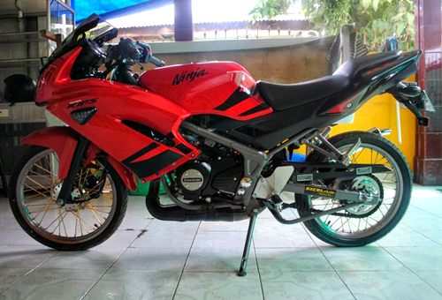 modifikasi ninja rr mono   fi full fairing bagus