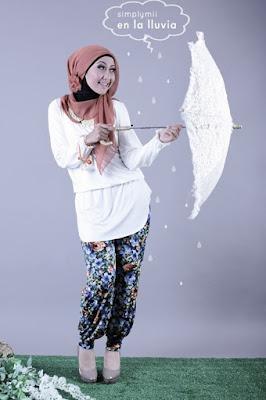 model hijab Igo Cantik ala zaskia adya mecca legging dan celana aladin