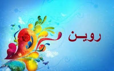 معنى اسم روين في اللغة العربية