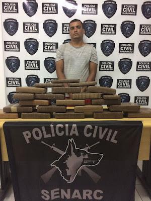 Polícia prende homem com 45 kg de maconha em Itapecuru-Mirim