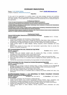 Marketing communications manager resume 1