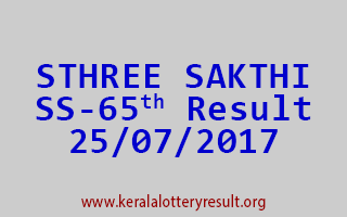 STHREE SAKTHI Lottery SS 65 Results 25-7-2017