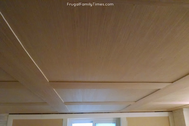 paneled ceiling with plywood