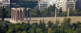 Templo de Zeus Olímpico desde la Colina Licabeto.