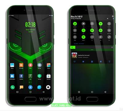 Theme Black Shark Helo v10 by AlexWolf MIUI 9