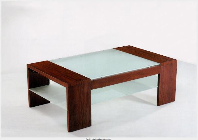 Glass Wood Coffee Table Wallpaper