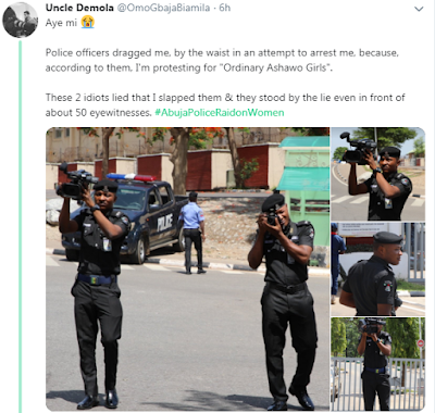 """You Are Protesting For ""Ordinary Ashawo Girls"" - Nigerian Man Gets Assaulted By Police Officers"