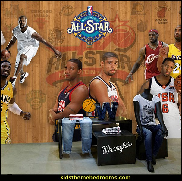 basketball star poster wallpaper 3D stereo mural