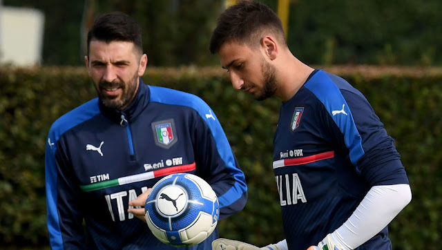 Buffon and Donnarumma