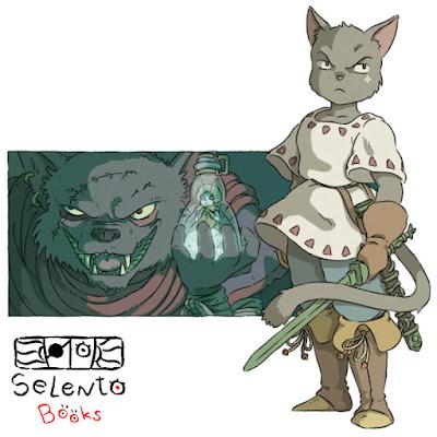 Ilustraciones descartas de la nueva edición de RoRo el príncipe gato y el Corazón de la Montaña (2018) Parte I