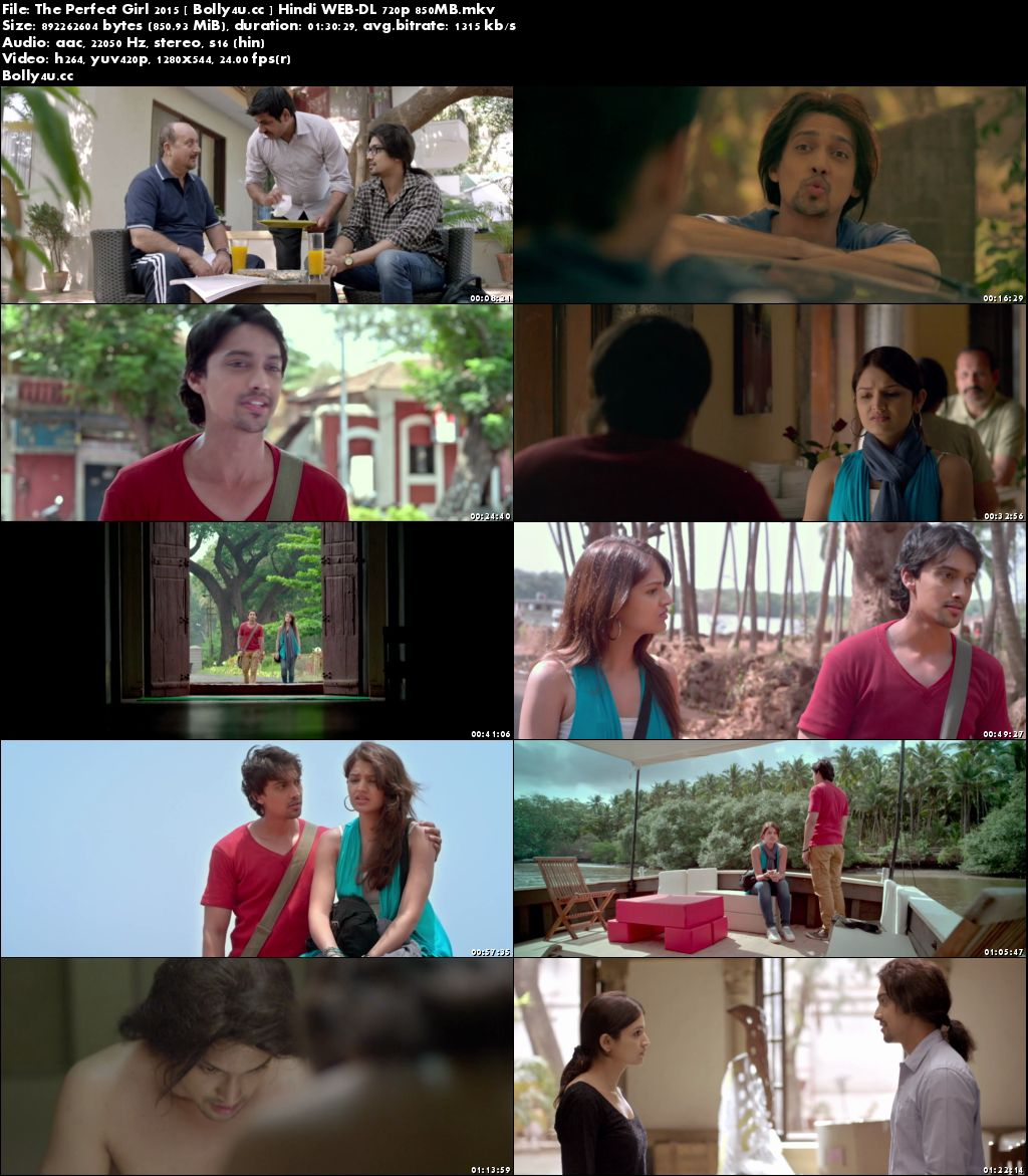 The Perfect Girl 2015 WEB-DL 850MB Hindi 720p Download