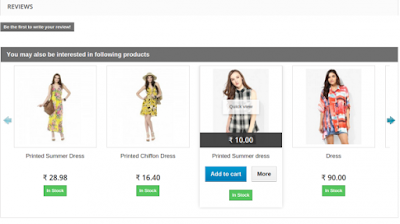 Shows the product list with pricing information | Knowband