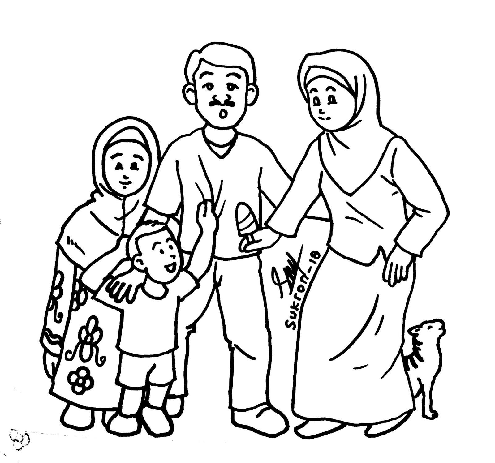 Karikaturku Indonesia Mewarnai Gambar Keluarga Inti