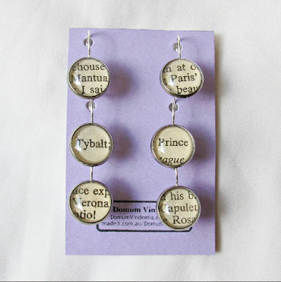 image stitch marker set progress keeper crochet knitting handmade domum vindemia romeo and juliet shakespeare earrings capulet tybalt verona mantua