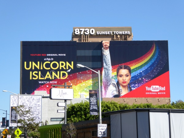 A Trip to Unicorn Island YouTube Red movie billboard