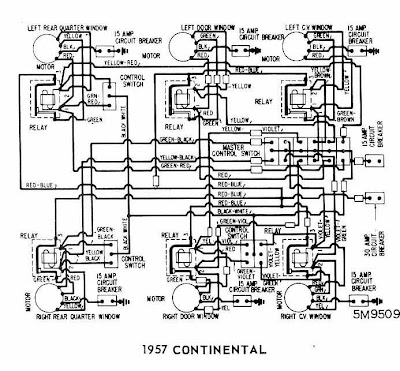 Lincoln    Continental 1957 Windows    Wiring       Diagram      All about    Wiring       Diagrams