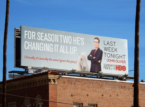 Last Week Tonight John Oliver season 2 billboard