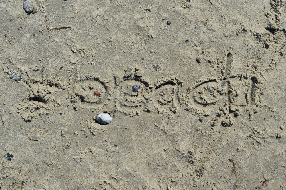 it's written in the sand so there is nothing else to say - hashtag beach #beach