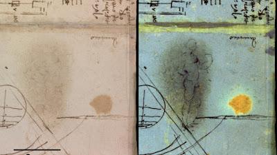 Ανακαλύφθηκε σβησμένο γυμνό σε ένα ημερολόγιο του Ντα Βίντσι