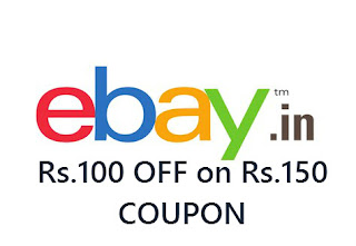Ebay Offer: Get Rs.100 Off on Minimum Shopping of Rs.150