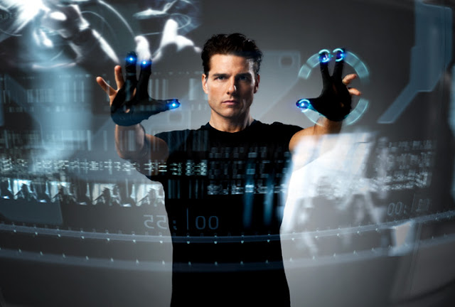 minority report movie using augmented reality