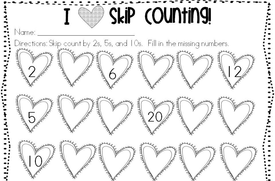 Classroom Freebies: I {heart} Skip Counting!