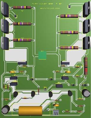 High power amplifier circuit MJL