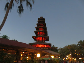 Enchanted Tiki Room Building at Night Magic Kingdom