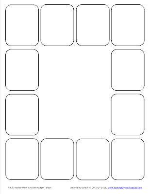Testy yet trying: Speech Card Set Activity: Cut & Paste