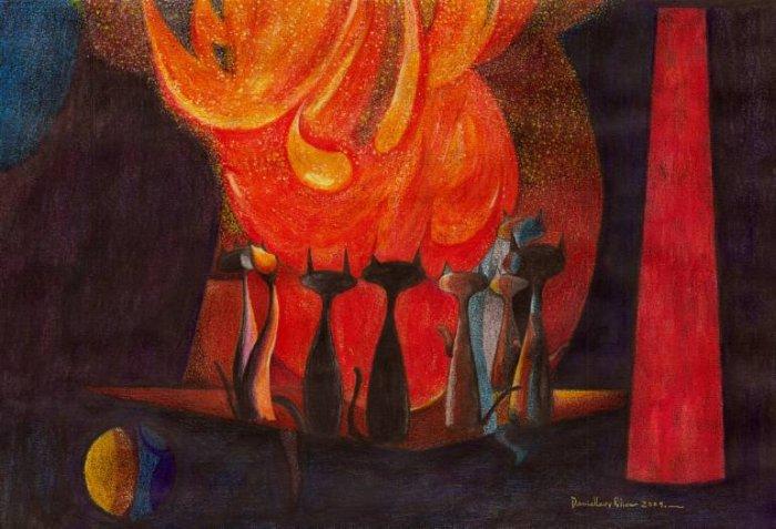 Мексиканский художник. Daniel Levy