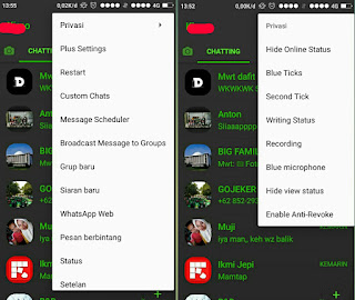 Download Whatsapp Plus untuk mengubah tema