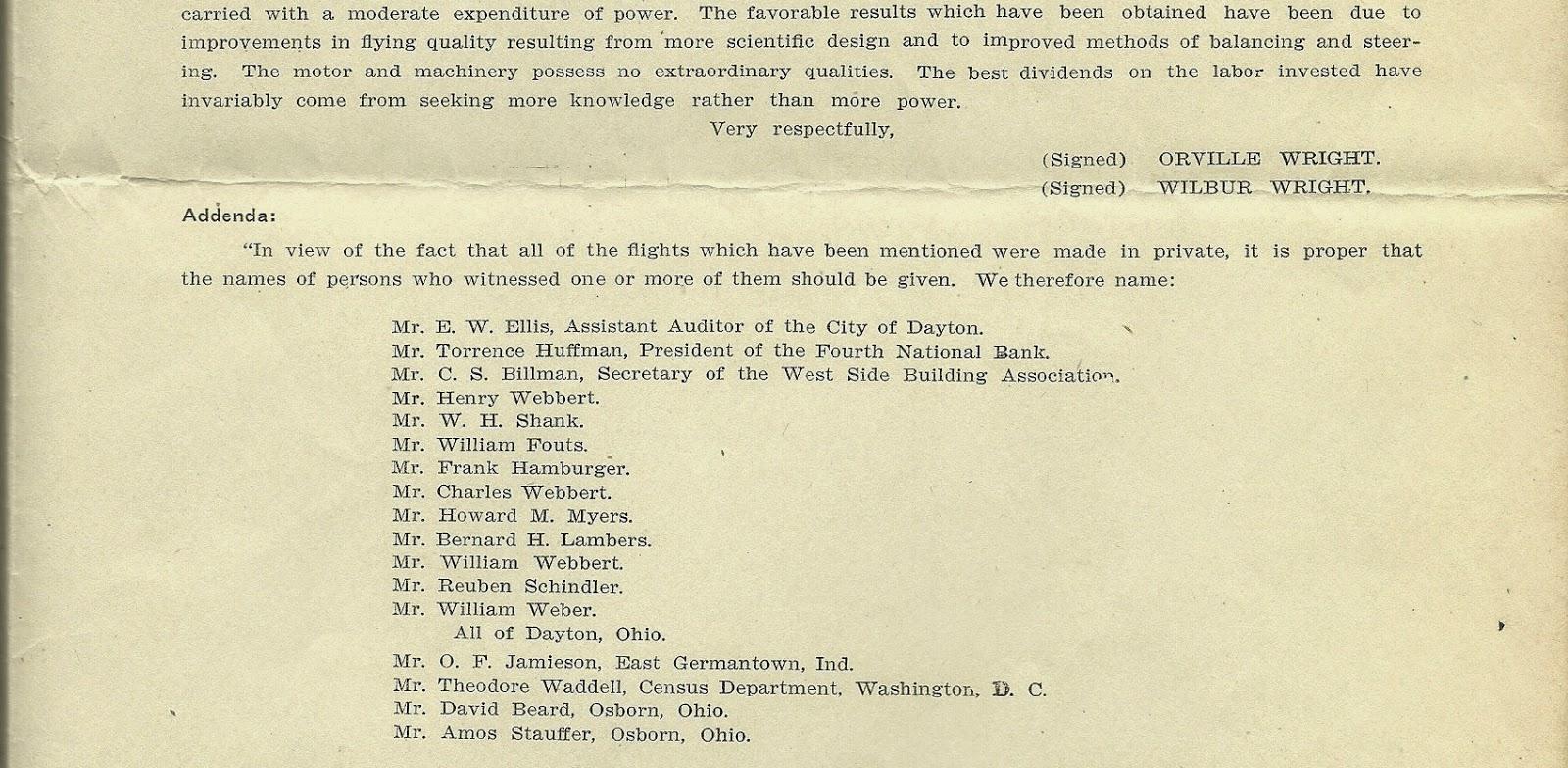 Wright Brothers 1905 flights.