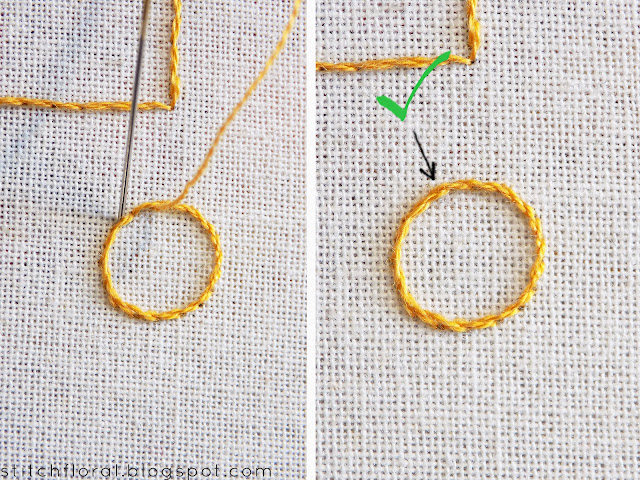 Stem stitch crash course, stem stitch tips