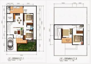 30 Desain Gambar Denah Rumah Minimalis Modern Terbaik