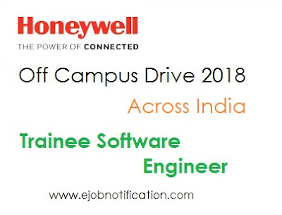 Honeywell off campus drive 2018 for fresher Trainee Software Engineer Across india apply online