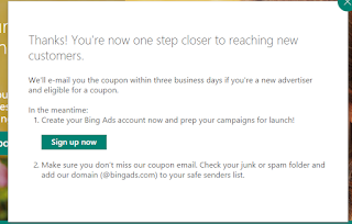 Cupón Gratis Bing Ads 4