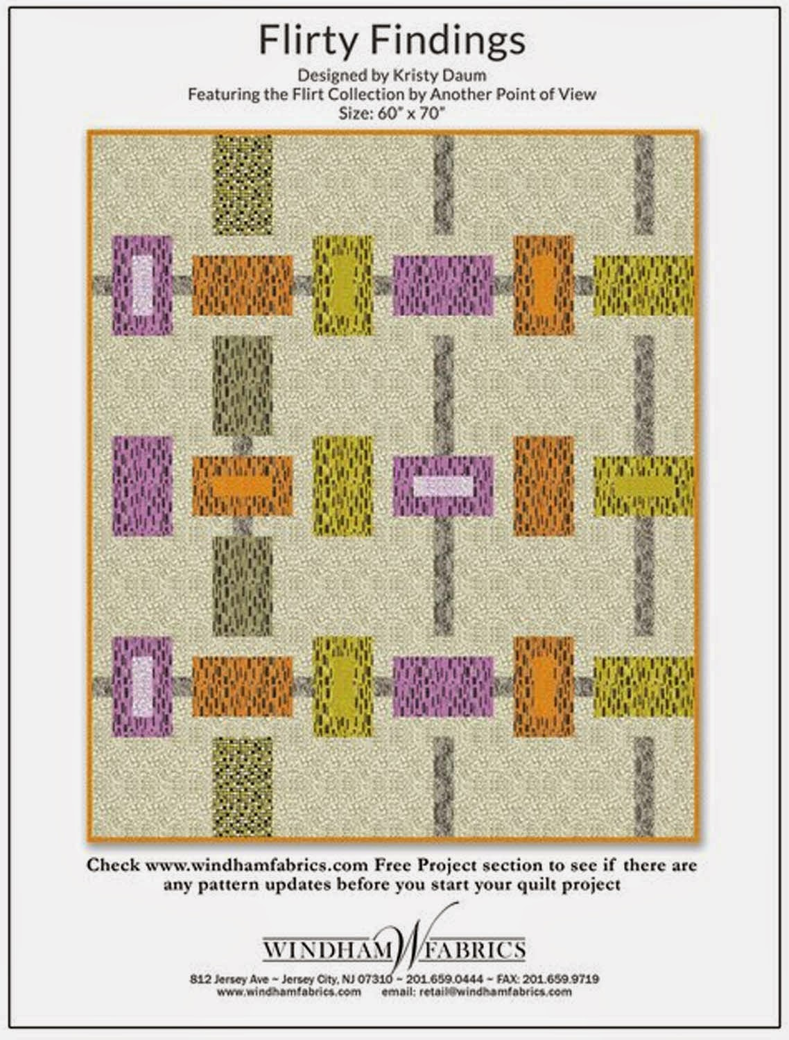 FLIRTY FINDINGS Quilt Pattern // Kristy Daum for Windham Fabrics