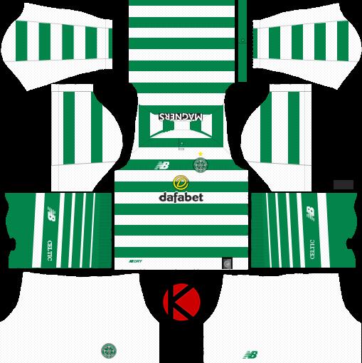 new concept b4188 38149 Celtic FC 2018/19 Kit - Dream League Soccer Kits - Kuchalana