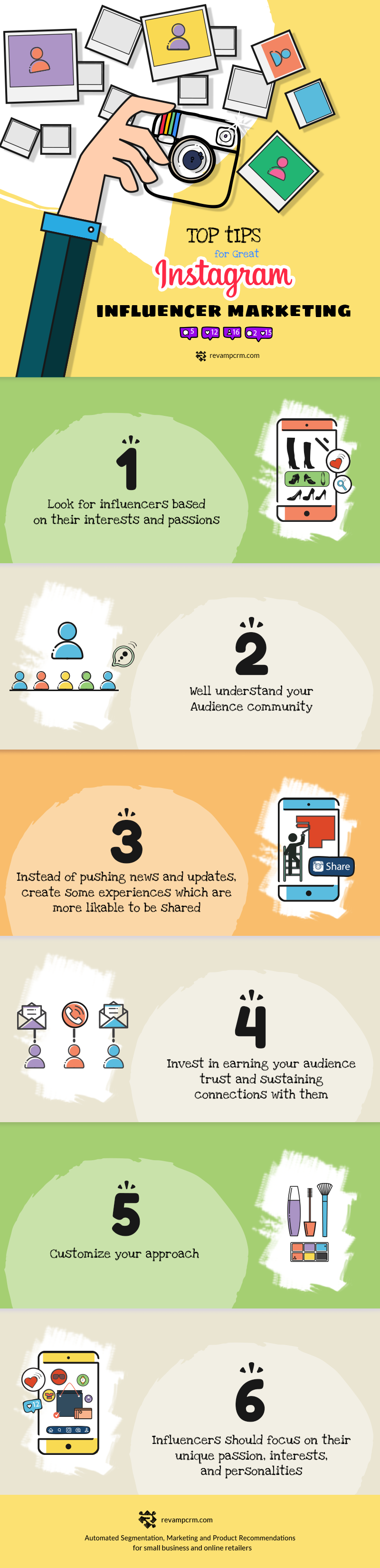 Top Tips for Instagram Influencer marketing - #infographic