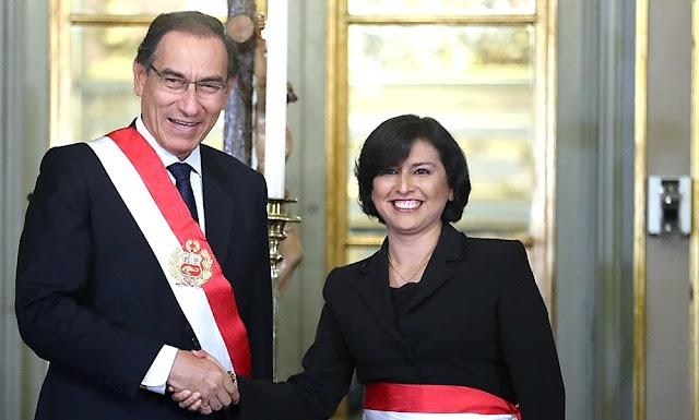Así fue la ceremonia de juramentación de la nueva titular del Ministerio de Trabajo y Promoción del Empleo, Sylvia Elizabeth Cáceres Pizarro, en Palacio de Gobierno