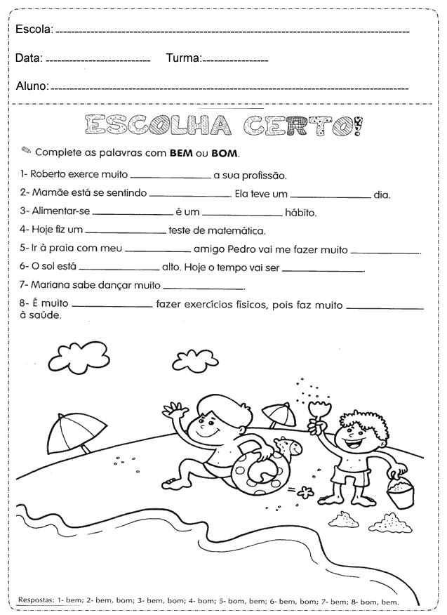 Atividades De Portugues 4 Ano Para Imprimir So Escola